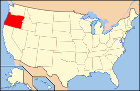 Oregon Counties Map by Map Oregon In Us Map