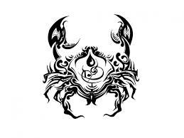 zodiac tribal aries and sagittarius combined tattoo design