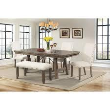 laurel foundry modern farmhouse dearing upholstered bench