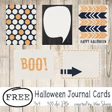 Printable Halloween Cards by Halloween Journal Cards Free Download Wee Share