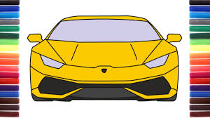 lamborghini huracan front how to draw a car lamborghini huracan front view step by step youtube