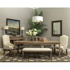 magnolia wood rectangular dining table in organic acacia humble