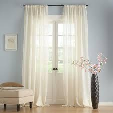 Sheer Panel Curtains Linen Sheer Drape Pottery Barn