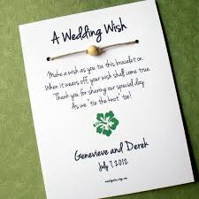 hawaii island a wedding wish wish bracelet wedding favor