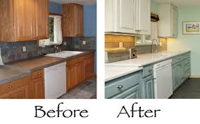 Before And After Kitchen Cabinet Painting Paint Kitchen Cabinets Before And After Excellent How To