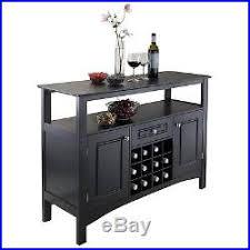 Wine Storage Cabinet Wine Storage Cabinet Wood Bottle Rack Kitchen Buffet Glass Display