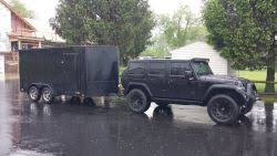 jeep wrangler cargo trailer weight distribution when towing enclosed motorcycle trailer