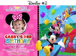 mickey mouse birthday invitations template best template collection