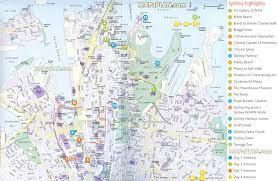 sydney australia map sydney maps top tourist attractions free printable city at