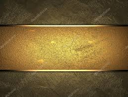 gold nameplate beautiful gold background with a gold nameplate for writing stock