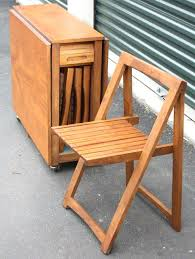 Folding Table With Chair Storage Popular Of Folding Table With Chair Storage Inside Drop Leaf