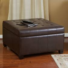 lyncorn brown bonded leather storage ottoman great deal