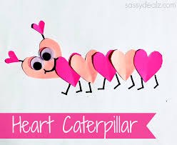 valentines kids s day heart caterpillar craft for kids caterpillar