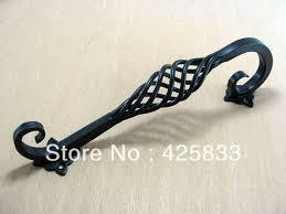 192mm furniture black iron antique brass birdcage handle kitchen