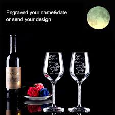 wedding gift glasses personalized toasting glasses and groom chagne glasses