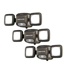 wireless led outdoor flood lights mr beams netbright networked 140 bronze outdoor wireless motion