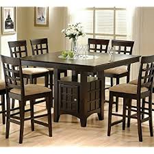 Amazoncom Jaden Square CounterHeight Table Tables - Countertop dining room sets