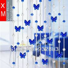 Blue Butterfly Curtains Xm Full Beads With Beautiful Butterfly Beaded Curtain Rideau