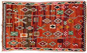 hand knotted wool vintage morocco azilal rug 4 u0027 11