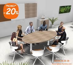 bureau reunion table de réunion ovale avec pied central pour 6 à 8 personnes comète