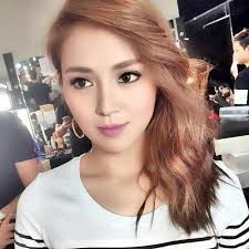 katrine bernardor hair color kath looks like a korean pop idol here with photoshoped hair color