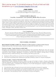 Analyst Resume Sample Ba Sample Resume Business Analyst Resume Sample Pg Resume Template