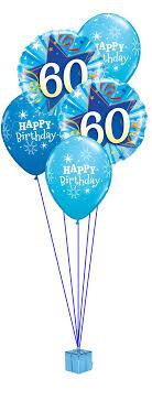 birthday balloon arrangements blue 60th birthday balloon bouquet party fever
