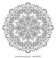 outline mandala coloring book decorative stock vector