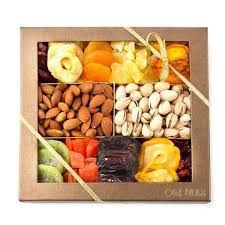 healthy snack gift basket nut and dried fruit gift tray healthy snack gift box great gift