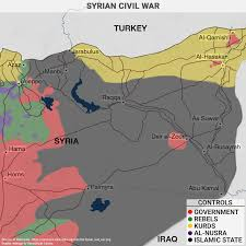 Map Of Syria Conflict by Syrian Civil War Geopolitical Futures