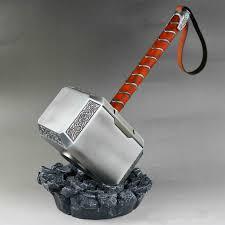 metal made no wooden box cattoys 1 1 thor mjolnir hammer