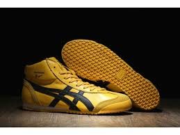 2017 asics mexico 66 mid runner shoes yellow black for womens sale