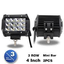 jeep light bar mini jeep truck led light bar 50000 hours spot beam 36w 4 inch 3