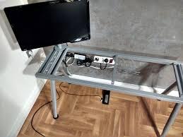 Ikea Desk Stand by Ikea Galant Piano Keyboard Stand Ikea Hackers Ikea Hackers