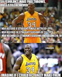 Make A Free Meme - if shaq could make free throws http nbafunnymeme com nba funny