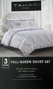 Black And White Paisley Duvet Cover Tahari Bedding 3 Piece Full Queen Duvet Cover Set Floral Paisley