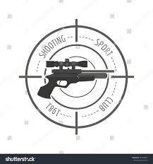firearm logo template guns rifles badge stock vector 522789481
