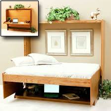 Freestanding Murphy Bed Frame Horizontal Wall Bed With Desk Note How Everythings Stays On The