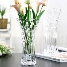 european large glass transparent vase living room decoration