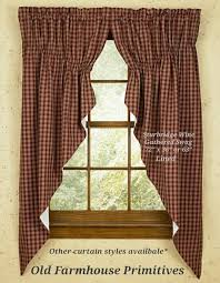 Americana Kitchen Curtains by Primitive Country Curtains