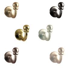 Silver Curtain Tie Backs Speedy Accessories Palma Curtain Tie Back Hooks 2 Pack Ebay