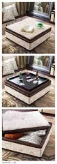 Storage Coffee Table by Best 25 Leather Ottoman With Storage Ideas On Pinterest Leather