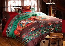 inspired bedding cotton boho style bedding bohemian bedding