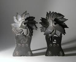 antique slate antique pair of slate ornaments from