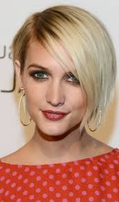 short hairstyles with side fringe women medium haircut