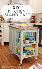 Inexpensive Kitchen Island Ideas Create A Rolling Island For Counter Space Rolling Island