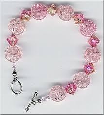 pink glass bead bracelet images Pink crackle strawberry cream beaded bracelet jpg