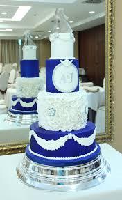 wedding cake royal blue royal blue and white wedding cake cake by delicut cakes cakesdecor