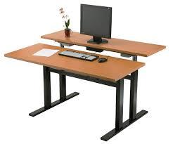 Stand Up Computer Desk Adjustable Furniture Stand Up Computer Desk In White Finished Made Of Metal