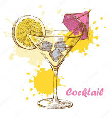 lemon drop martini clip art hand draw cocktail u2014 stock vector bioraven 10963002